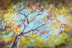 """Landscape Artists International: New """"Party of One"""" Palette Knife Painting by Niki Gulley"""