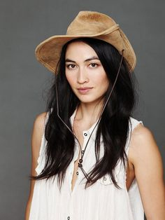Minnetonka Aussie Leather Hat http://www.freepeople.com/whats-new/aussie-leather-hat/