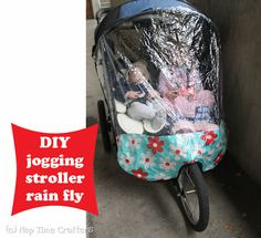 Make your own rain fly for your stroller!