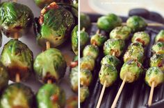 Alton Brown's Grilled Brussels Sprouts are the perfect summer side dish! #myhttender #outdoordining #BBQ Grilling Recipes, Cooking Recipes, Healthy Recipes, Healthy Snacks, Healthy Eating, Healthy Habits, I Love Food, Good Food, Yummy Food