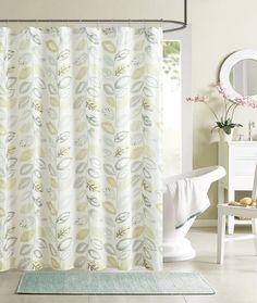 $15 - Amazon.com: Luxury Home Primrose Shower Curtain, Sage: Home & Kitchen