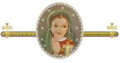 La Virgen María, niña!
