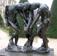 Auguste Rodin : Les ombres- Size and location of the sculpture are interesting Auguste Rodin, Camille Claudel, Modern Sculpture, Sculpture Art, Famous Sculptures, French Sculptor, Art Corner, Objet D'art, Land Art