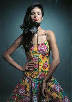 vestido de chita figurino
