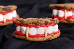 Dracula's Denture Cookies - Neatorama #Halloween