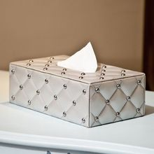 Fashion quality pumping paper box table napkin paper box leather tissue box brief car tissue box(China)