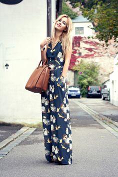 chic floral jumpsuit. #style #inspiration #zappos