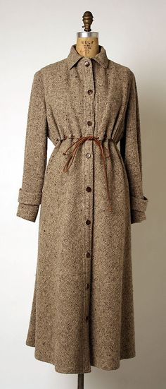 Dress by Geoffrey Beene: American, wool, 1973-77