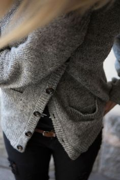 simple, cozy outfit