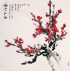 PLUM BLOSSOM signifies Good  Fortune.   Place in SE or E corner of living room.  Creates harmonious relationships and money luck.  (Lillian Too)
