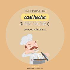 Frases ilustradas: hecha (hacer)  vs  echa (echar)