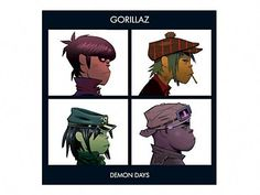 "Artist: Gorillaz Album: Demon Days Song: 10 ""All Alone"" WARNING: This video is for listening purposes only. I did not create the song nor the album art. Gorillaz Albums, Gorillaz Art, Gorillaz Demon Days, Darkside, Villainous Cartoon, Gifs, Human Body Parts, Jamie Hewlett, Best Albums"