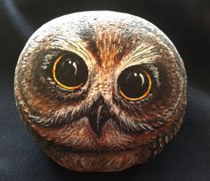 Painted rock / Painted Stone / Owl Garden Art / Yard decor / Home decor / Book end Desk ornament / Gift ideas on Etsy