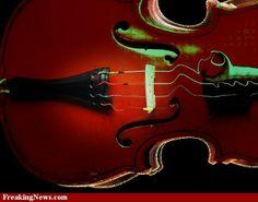 Melting violin.