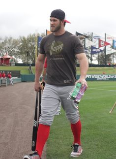 Nationals outfielder Bryce Harper got really hot over the offseason. | What's The Sexiest Part Of This Photo?