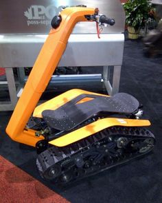 The Dual Tracked Vehicle (DTV)...I want one of these so badly. Imagine carving through the scrub on this.