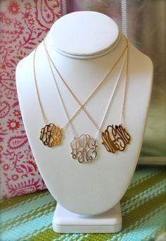 monogram necklace...love
