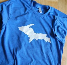 The Upper Peninsula T Shirt by bigwaterapparel on Etsy, $17.00