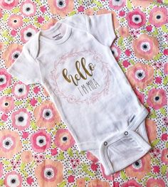 e9ad8b965 Coming Home Outfit//Baby Girl//Gerber Onesie//Baby Onesie//Floral Onesie//Baby  Bodysuit//Birth Announcement//Baby Girl Outfit//Personalized
