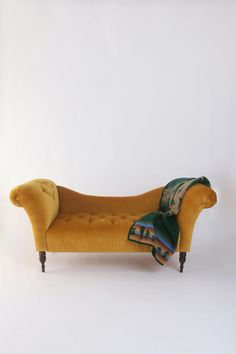 antoinette fainting sofa in antique gold at urban outfitters $579.00