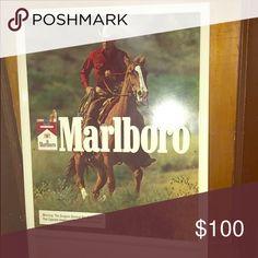 Marlboro metal western cowboy sign Brand new!!! Other
