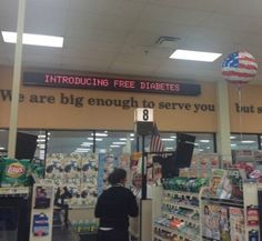 Introducing Free Diabetes for Sick People of Walmart - Funny Sign Fail - Funny Pictures at Walmart
