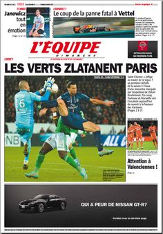 L Equipe du dimanche 04 novembre 2012 - Los Verdes Zlatanean Paris!