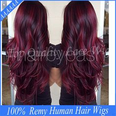 Cheap wigs and hair direct, Buy Quality wig lace directly from China wig 27 Suppliers:         Free Shipping 7A Remy Middle Part Glueless Full Lace Wig Ombre Lace Front Wigs For Black Women Two Tone #1b/Red