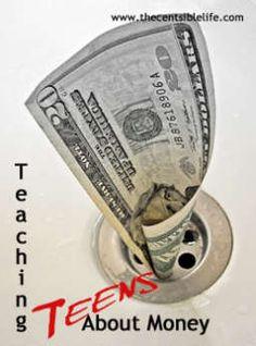 Teaching Teens about Money #moneyskills #centsible
