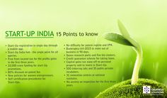 Start-Up India, 15-Points to know. #StartupIndia