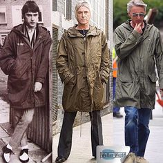 Paul Weller - a parka is for life! Ska Music, The Style Council, Tailor Made Suits, Fishtail Parka, Mod Look, Mod Scooter, Paul Weller, Youth Culture, Mod Fashion