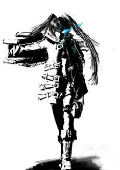Sad Anime Girl, Black Rock Shooter, Blue Flames, Fan Art, Illustrations, Aesthetic Photo, Hatsune Miku, Anime Art, Anime Cosplay
