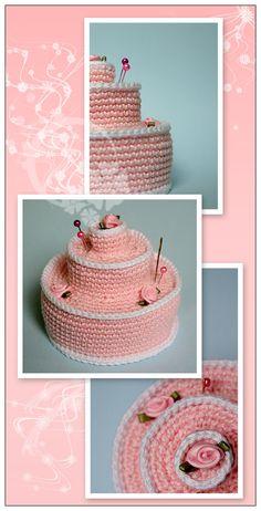 Crochet Cake by ItziBitziTinka.deviantart.com on @deviantART