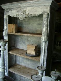 Just attach old decorative boards to shopbookshelves Antique Grey