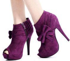 Purple Heel Boots | Tsaa Heel