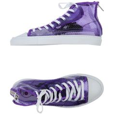 Opening Cerimony X Forfex Sneakers ($63) ❤ liked on Polyvore featuring shoes, sneakers, purple, zipper shoes, lacing sneakers, zip shoes, round cap and laced sneakers