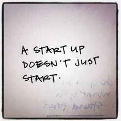 a start up...