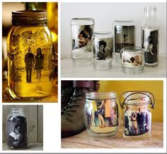 Photo in jar with olive oil.