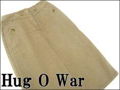 Hug O War 美品HugOWarハグオーワーの織柄ロングスカート薄茶 P6476 アンティーク インテリア 雑貨 家具 Antique ¥2800yen 〆05月28日