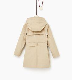 ZARA - KIDS - Hooded trench coat