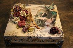 Altered wooden box - Scrapbook.com