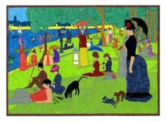 Sunday in the Park mural template. PDF file available for just $5.