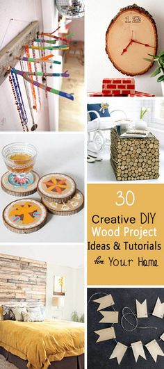 Creative DIY Wood Project Ideas & Tutorials for Your Home!