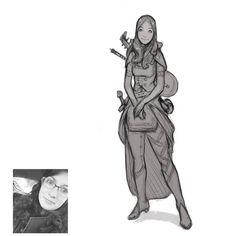 @lipstickgiraffe  as an adventurer bard. Daily #character #sketch #art