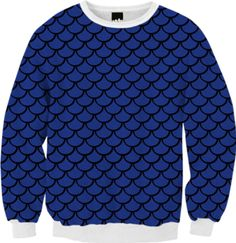 Mermaid Sapphire Sweatshirt - Available Here: http://printallover.me/collections/sondersky/products/0000000p-mermaid-sapphire-7