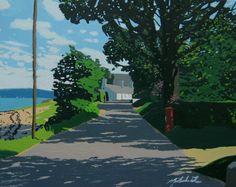 "Saatchi Online Artist: Malcolm Warrilow; Oil, 2011, Painting ""The dappled lane. (original sold)"""