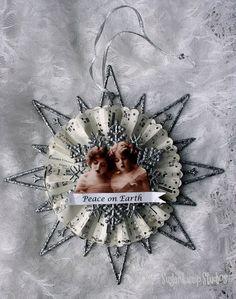Altered dollar store #Christmas ornament #tutorial - lovely!  via Sugar Lump Studios