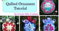 Look at these adorable quilted ornaments that Jennifer Watkins is going to teach us to make today! They look like they took hours a. Diy Quilted Christmas Ornaments, Folded Fabric Ornaments, Christmas Wood, How To Make Ornaments, Diy Christmas Gifts, Handmade Christmas, Christmas Tree Ornaments, Holiday Crafts, Diy Ornaments