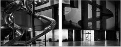 Matthew Pillsbury, 'Slides in the Turbine Hall, Tate Modern, London, 2007 Tate Modern London, Turbine Hall, School Of Visual Arts, Pillsbury, London Travel, Installation Art, Fine Art Photography, Black And White, Gallery