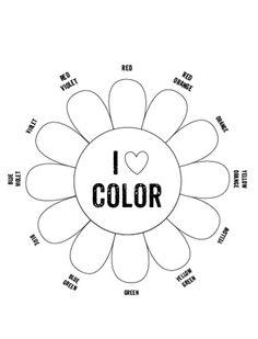 printable color wheel mr printables - Worksheet Color